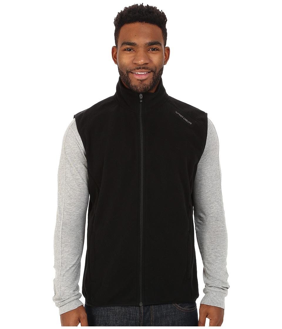 Hot Chillys Baja Zip Vest w/ Binding Black Mens Vest