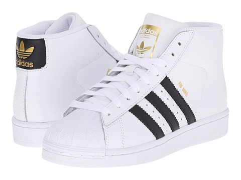 adidas Originals Kids Pro Model J (Big Kid) - White/Black/White