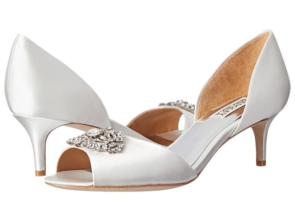 Badgley Mischka Petrina (White Satin) High Heels