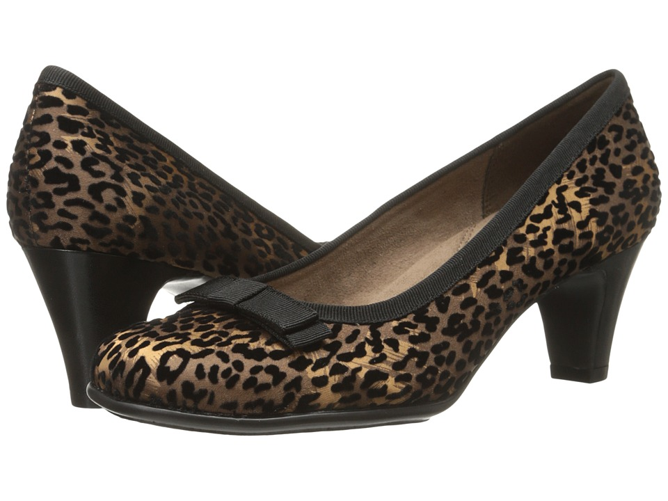 Aerosoles Playhouse Leopard Fabric Suede Womens Shoes