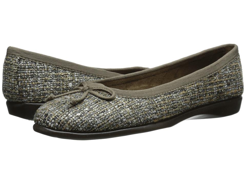 Aerosoles Teashop Taupe Fabric Womens Slip on Shoes