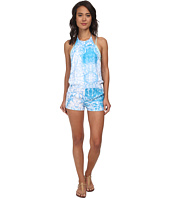 MIKOH SWIMWEAR - Takaroa High Neck Halter Short Romper Cover-Up