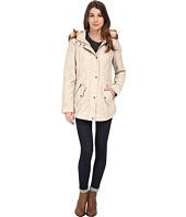 Jessica Simpson - Faux Leather Anorak with Faux Fur Hood