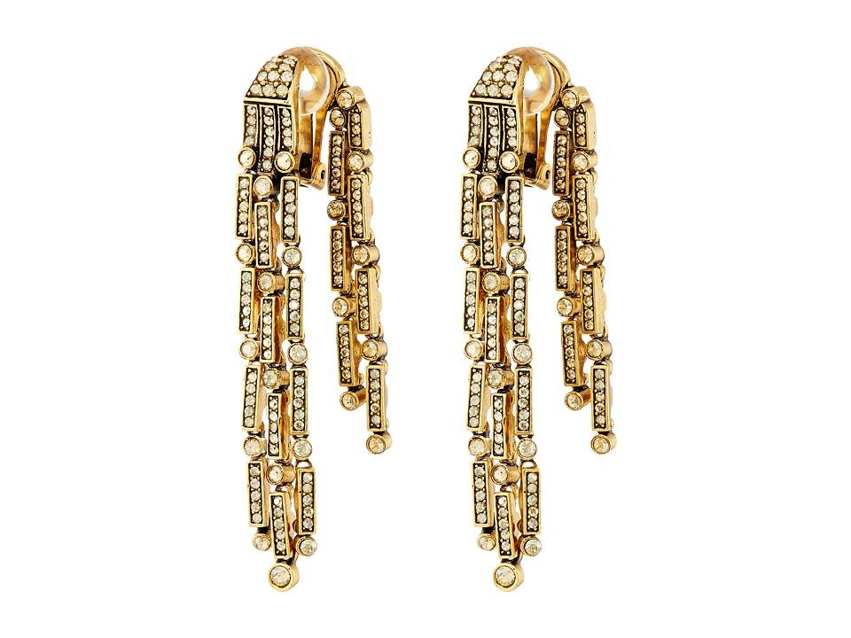 Oscar de la Renta Dangling Earrings Cry Gold Shadow Earring