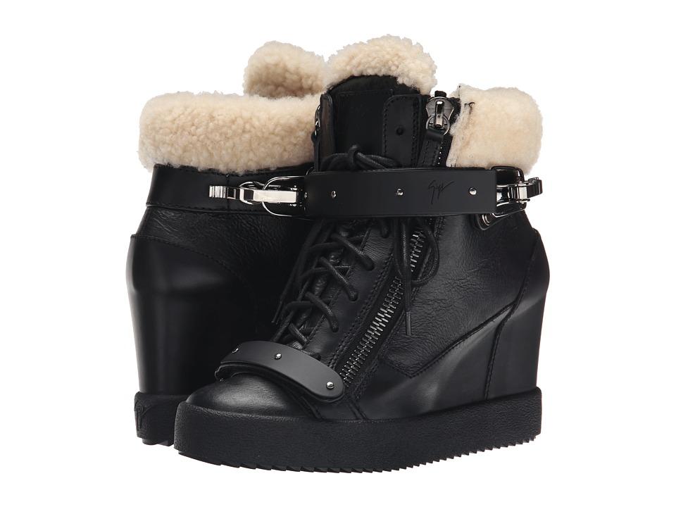Giuseppe Zanotti RW5051 Black/White Womens Wedge Shoes