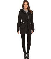 Jessica Simpson - Asymmetrical Zip Hood Softshell with Belt