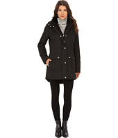 Jessica Simpson - Long Parka Puffer with Bib, Faux Fur Collar and Hood