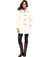 Jessica Simpson - Long Clip Toggle Down Coat with Bib and Knit Collar