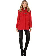 Jessica Simpson - Zip Front Toggle Coat with Hood In Melton Touch