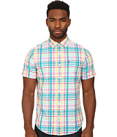 Original Penguin - Global Look Seersucker Plaid Woven Short Sleeve Heritage Shirt