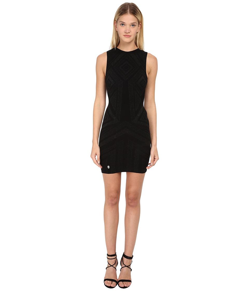 Philipp Plein Dress Love Black Womens Dress