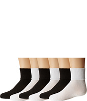 Jefferies Socks - Turncuff 6 Pair Pack (Infant/Toddler/Youth)