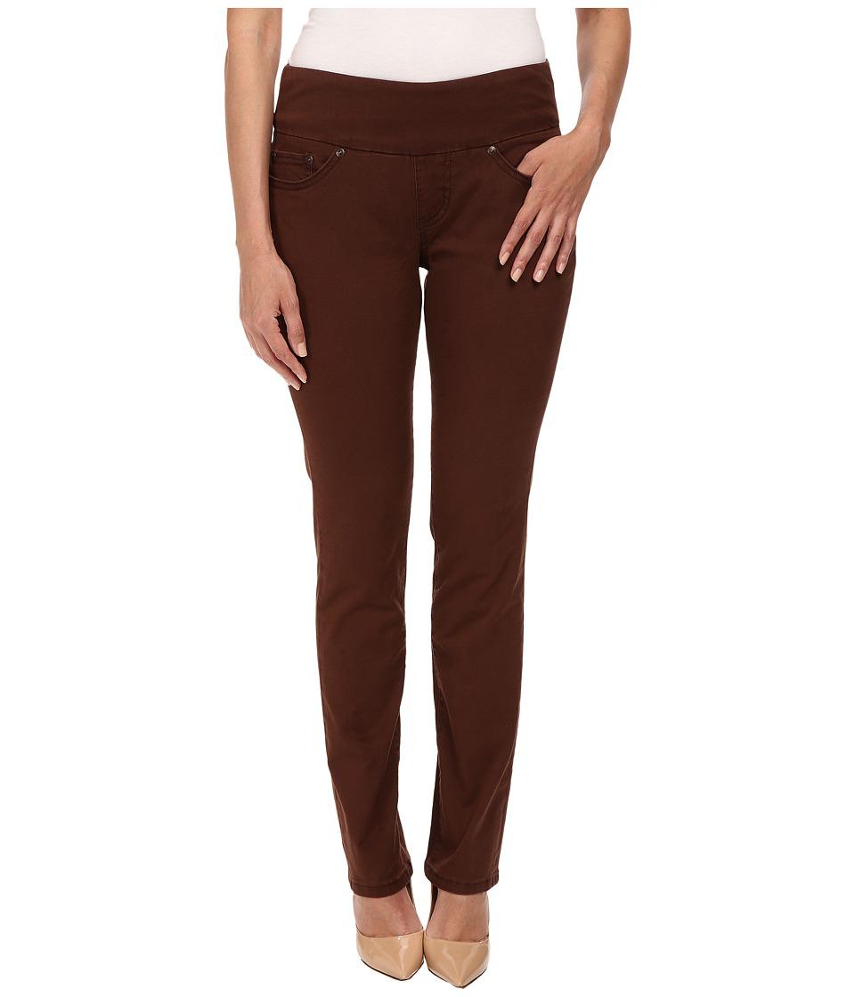 Jag Jeans Petite Petite Peri Pull On Straight Twill Pants Java Dark Womens Casual Pants
