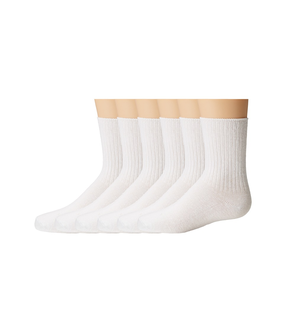 Jefferies Socks - Seamless Casual Crew 6 Pair Pack (Infant/Toddler/Little Kid/Big Kid) (White) Boys Shoes