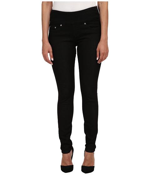 Jag Jeans Petite Petite Nora Pull On Skinny Knit Denim in Black Rinse - Black Rinse