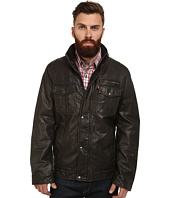 Levi's® - Faux Leather Two-Pocket Trucker w/ Sherpa Lining