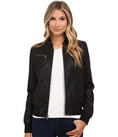 Levi's® - Faux Leather Quilted Bomber w/ Knit Hood