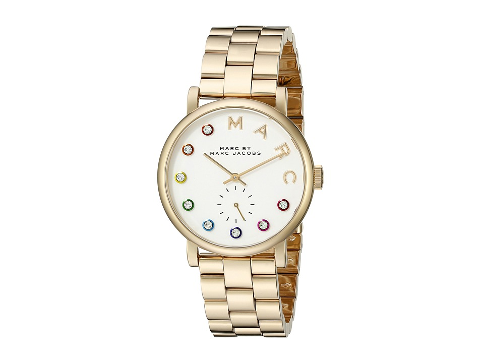 Marc by Marc Jacobs MBM3440 Baker Gold/White Watches