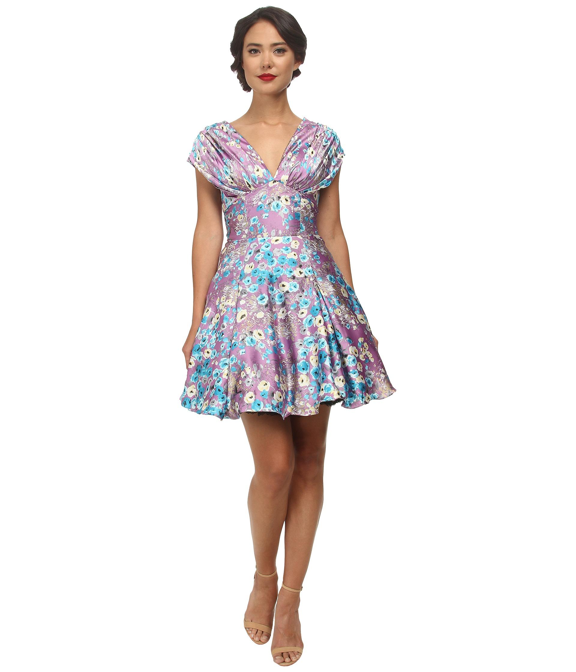 Unique Vintage Olivia Fit &amp- Flare Dress - 6pm.com