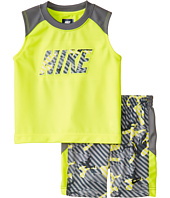 Nike Kids - Aop Poly Mesh Sleeveless Shorts Set (Little Kids)