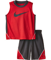 Nike Kids - Swoosh Poly Sleeves Shorts Set (Little Kids)