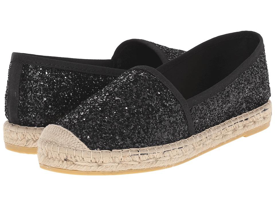 Vidorreta Lux Black Glitter Womens Slip on Shoes