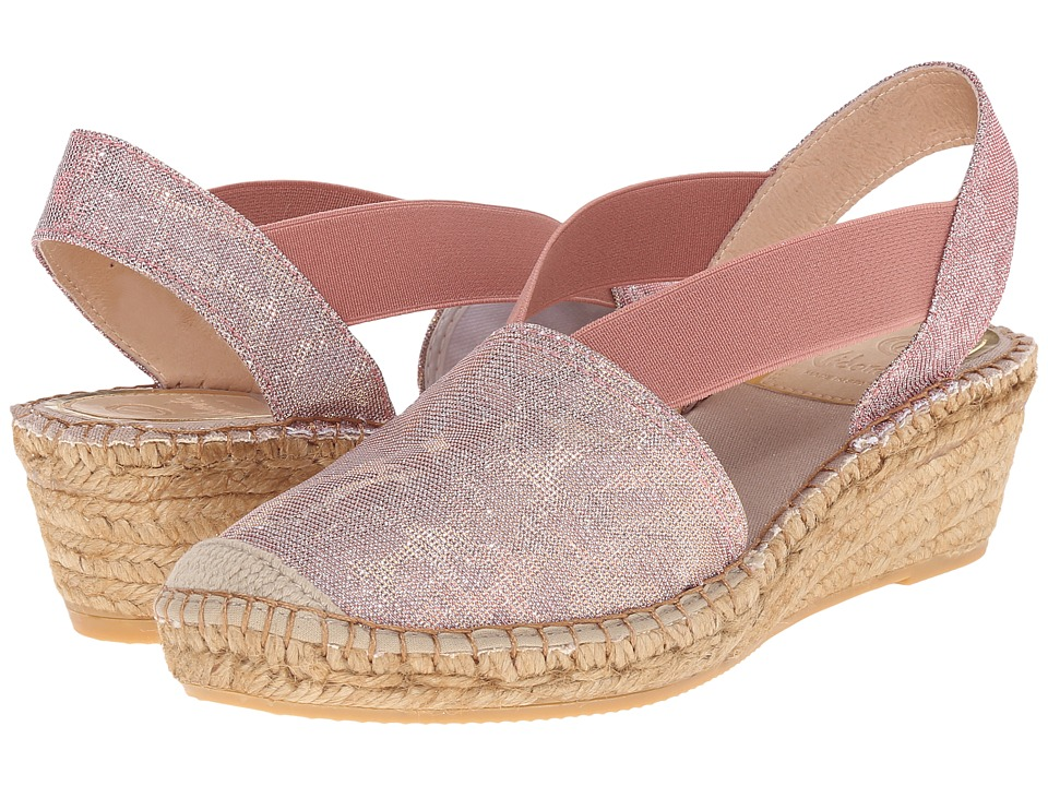 Vidorreta Luna Maquillaje Metallic Leopard Womens Slip on Shoes