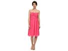Donna Morgan Anne Short Strapless Chiffon Dress (Strawberry)