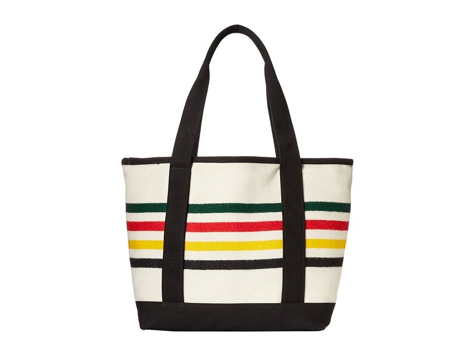 Pendleton - Large Canvas Tote (Glacier Park Stripe) Tote Handbags