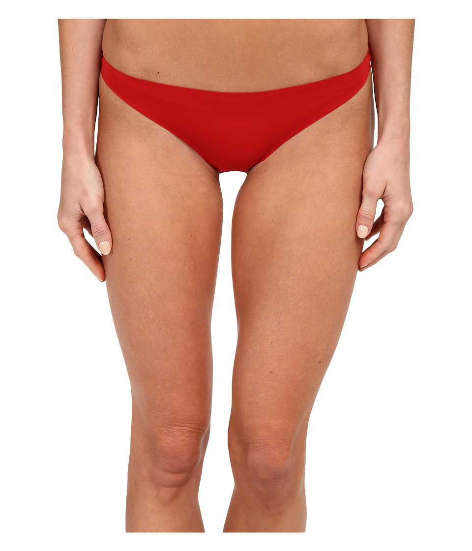 Stella McCartney Stella Smooth Lace Bikini Brief Lipstick Red Womens Underwear