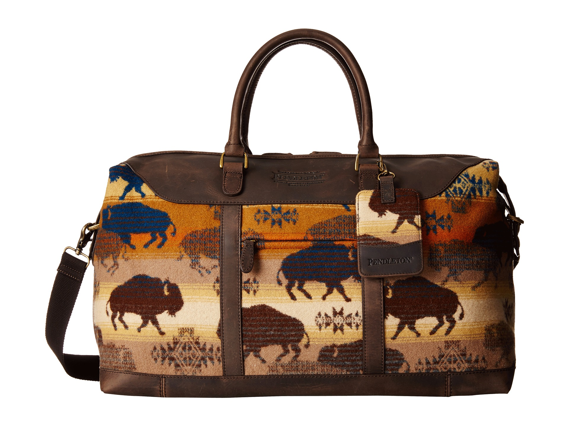 Shop bags from Pendleton, including premium wool bags, durable travel bags, stylish wool tote bags & more.