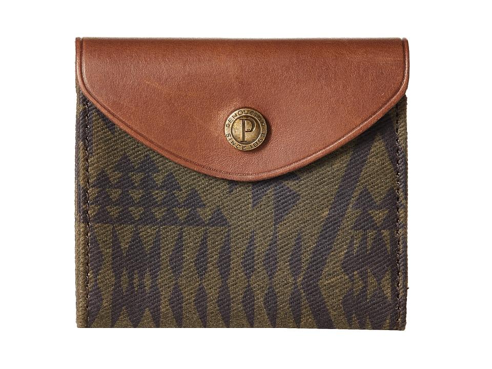 Pendleton - Rugged Snap Wallet (Diamond River Tonal) Wallet Handbags