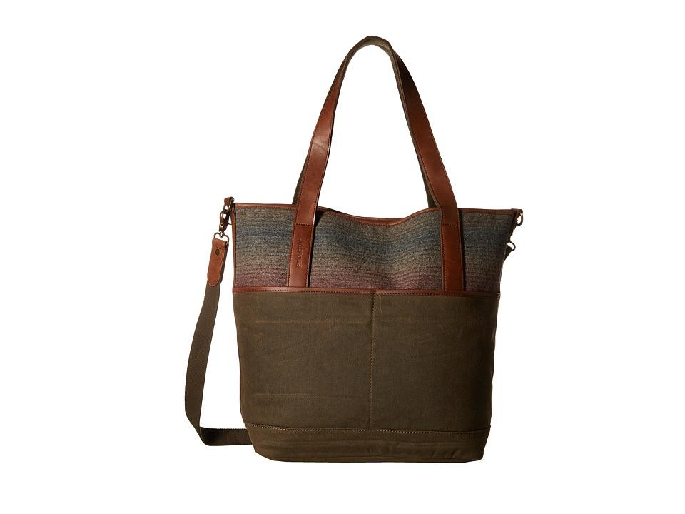 Pendleton - Manly Tote (Yakima Camp Stripe) Tote Handbags