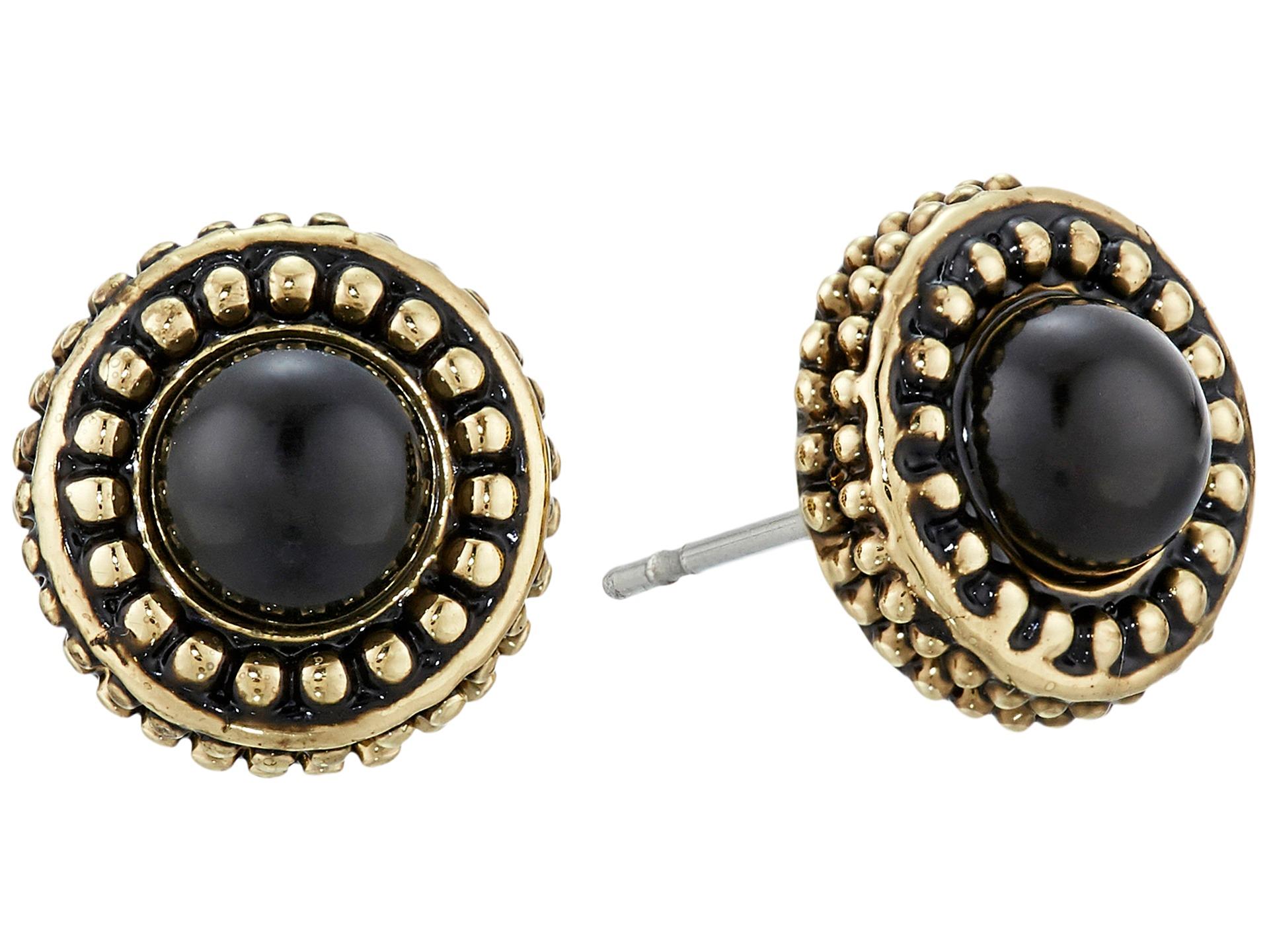 house of harlow 1960 cuzco stud earrings grey cat s eye