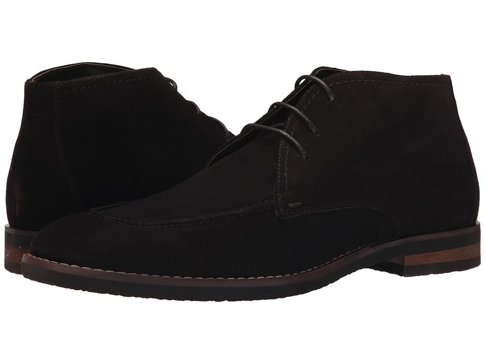 Robert Wayne Tatum Dark Brown Suede Mens Lace up Boots