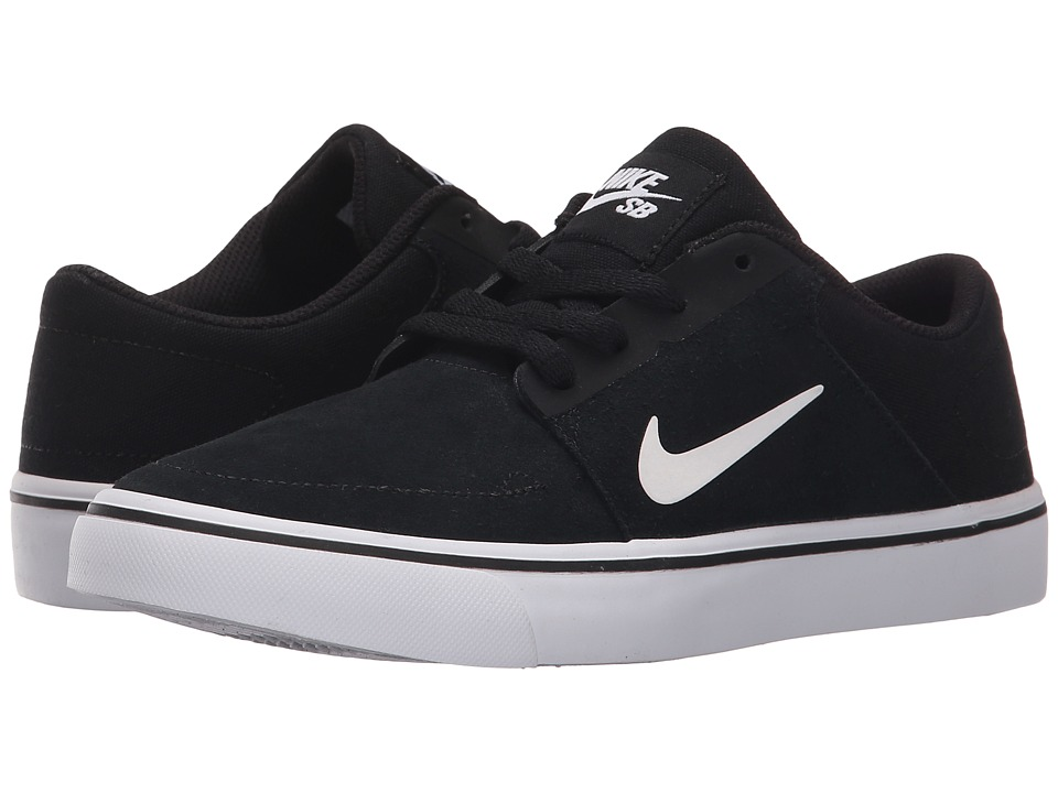 Nike SB Kids SB Portmore Big Kid Black/White/White Boys Shoes