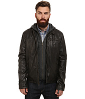Levi's® - Faux Leather Racer w/ Hoodie & Fleece Lining