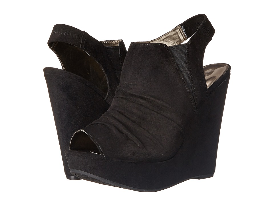 CARLOS by Carlos Santana Britton Black Womens Wedge Shoes
