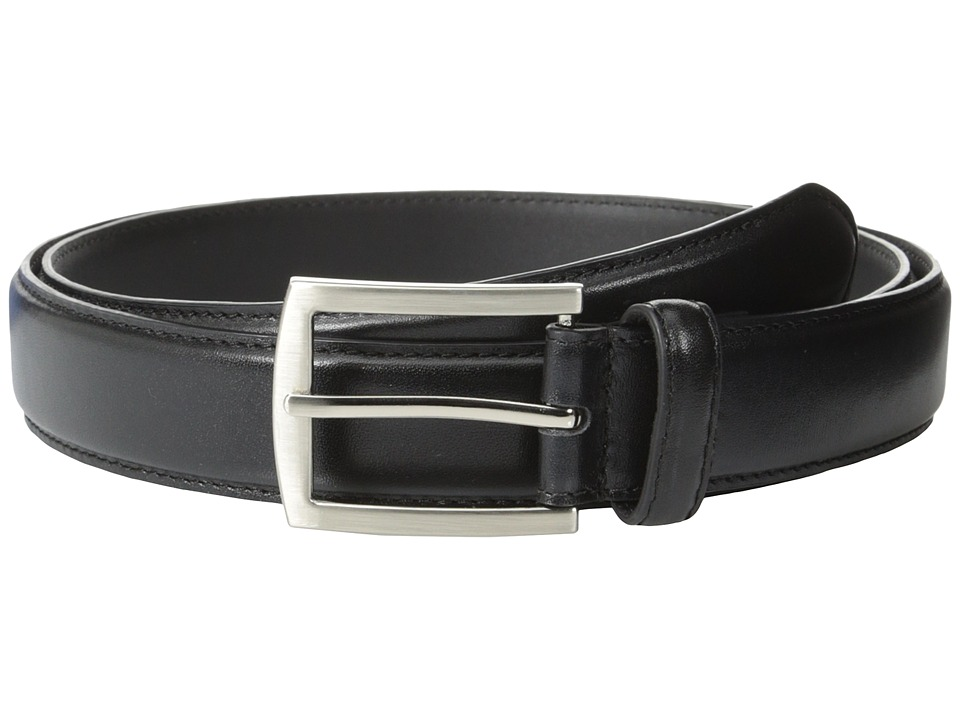Stacy Adams 32mm Full Grain Leather Top w/ Leather Lining Dress Belt (Black) Men