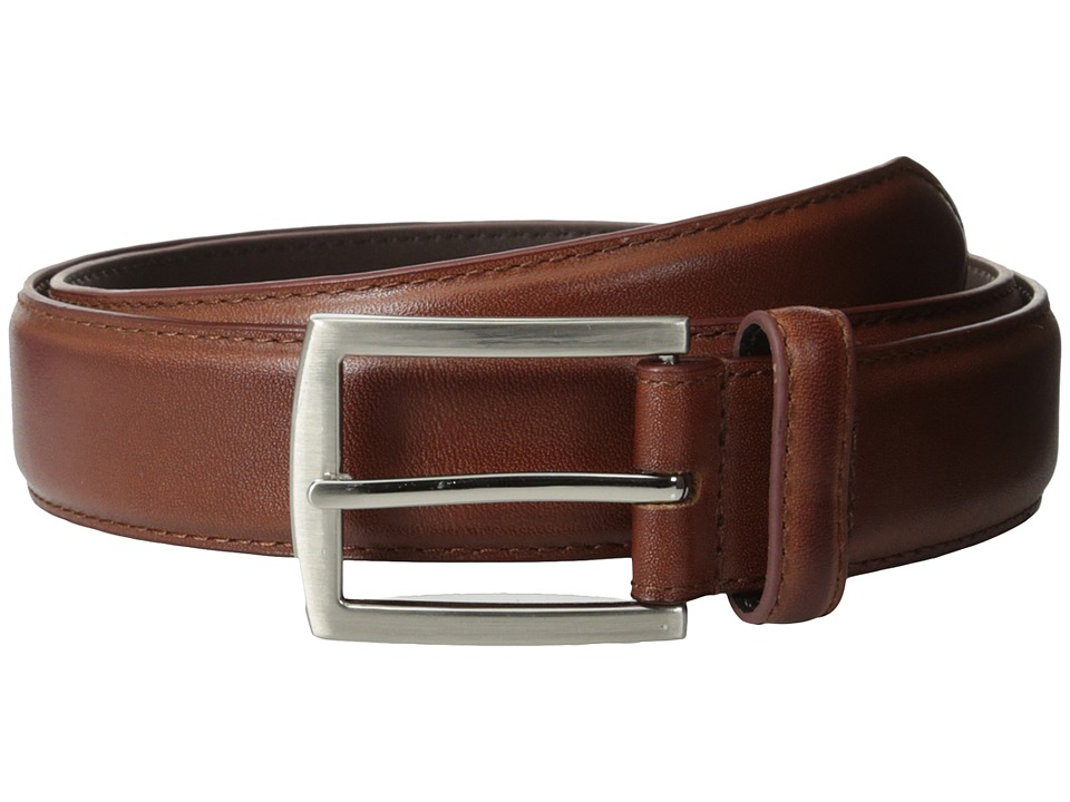 Stacy Adams 32mm Full Grain Leather Top w/ Leather Lining Dress Belt (Cognac) Men