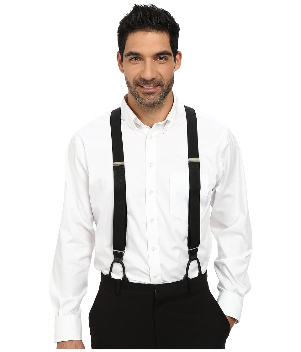 1920s Gangster – How to Dress Like Al Capone Stacy Adams - Button-On Suspenders XL Black Mens Belts $27.00 AT vintagedancer.com