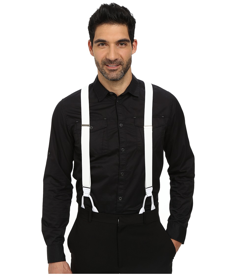 Stacy Adams - Button-On Suspenders XL White Mens Belts $29.99 AT vintagedancer.com