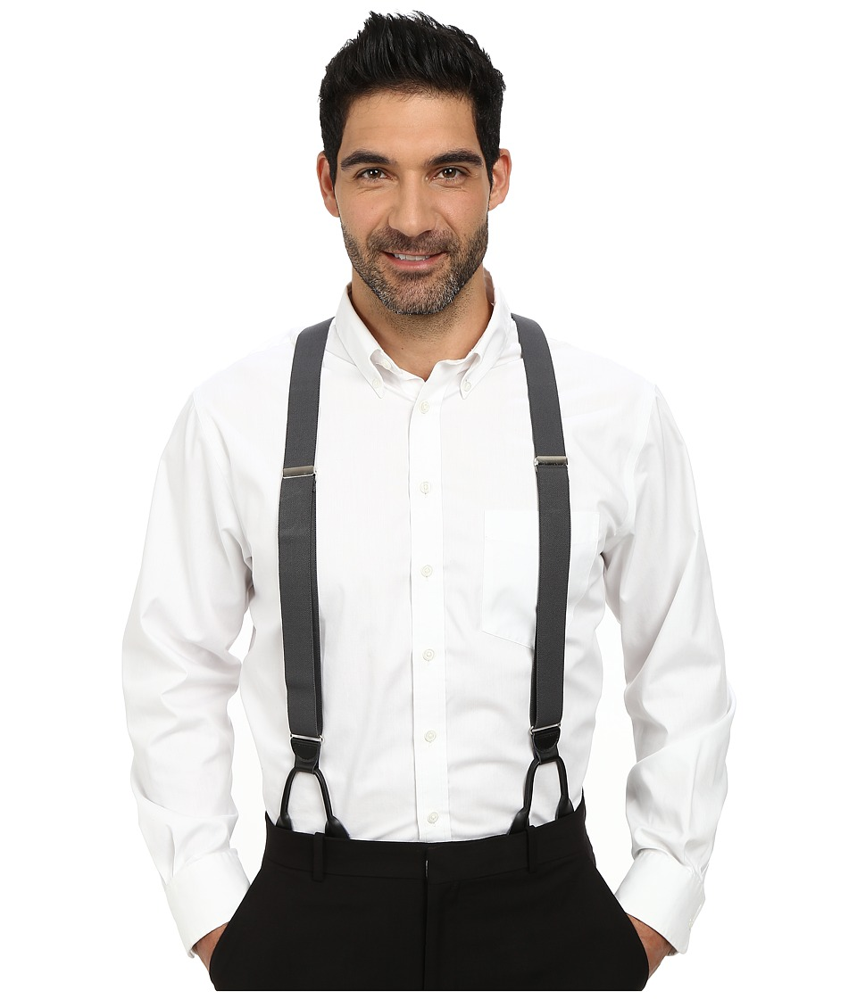 Men's Vintage Style Suspenders Stacy Adams - Button-On Suspenders XL Gray Mens Belts $20.99 AT vintagedancer.com