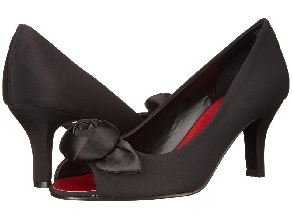 Caparros - Willamena Black Faille High Heels $85.00 AT vintagedancer.com