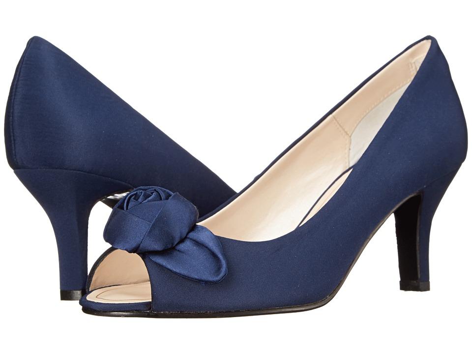 Caparros - Willamena Navy Faille High Heels $85.00 AT vintagedancer.com