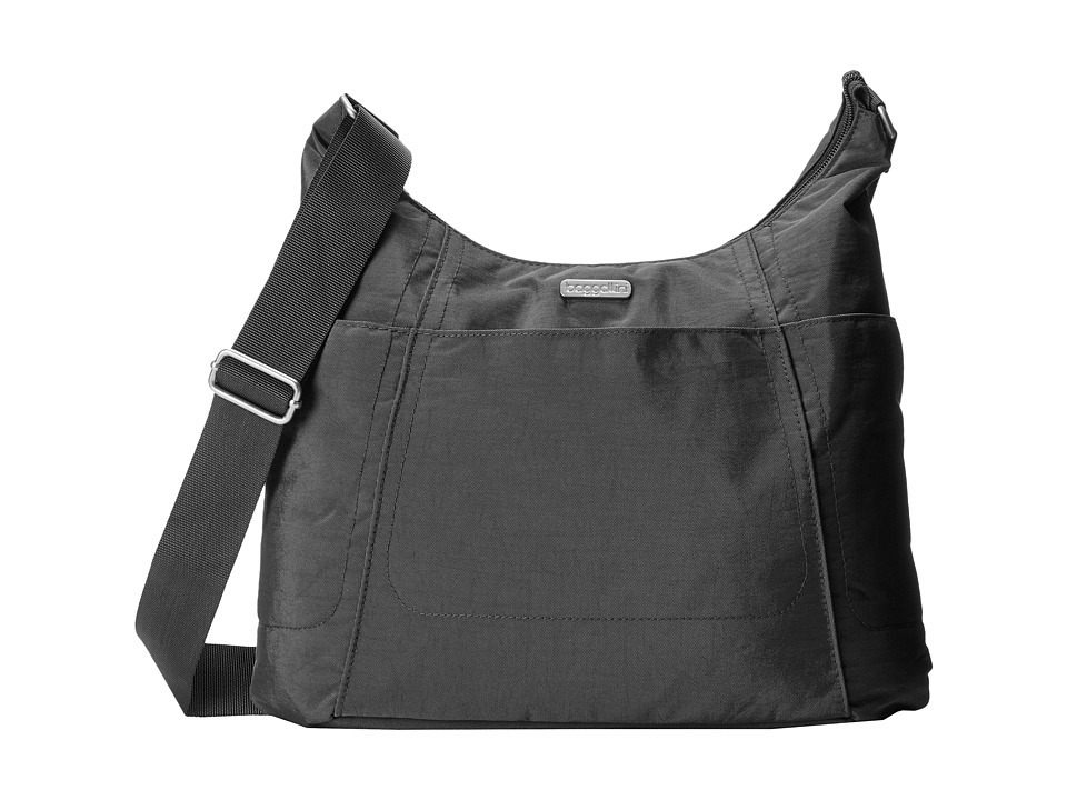 Baggallini Hobo Tote (Charcoal) Cross Body Handbags