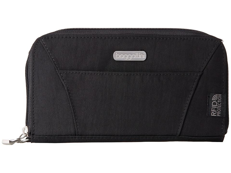 Baggallini - RFID Wallet (Black/Sand) Wallet Handbags