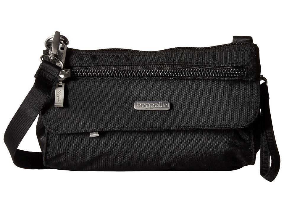 Baggallini Plaza Mini Black/Sand Cross Body Handbags