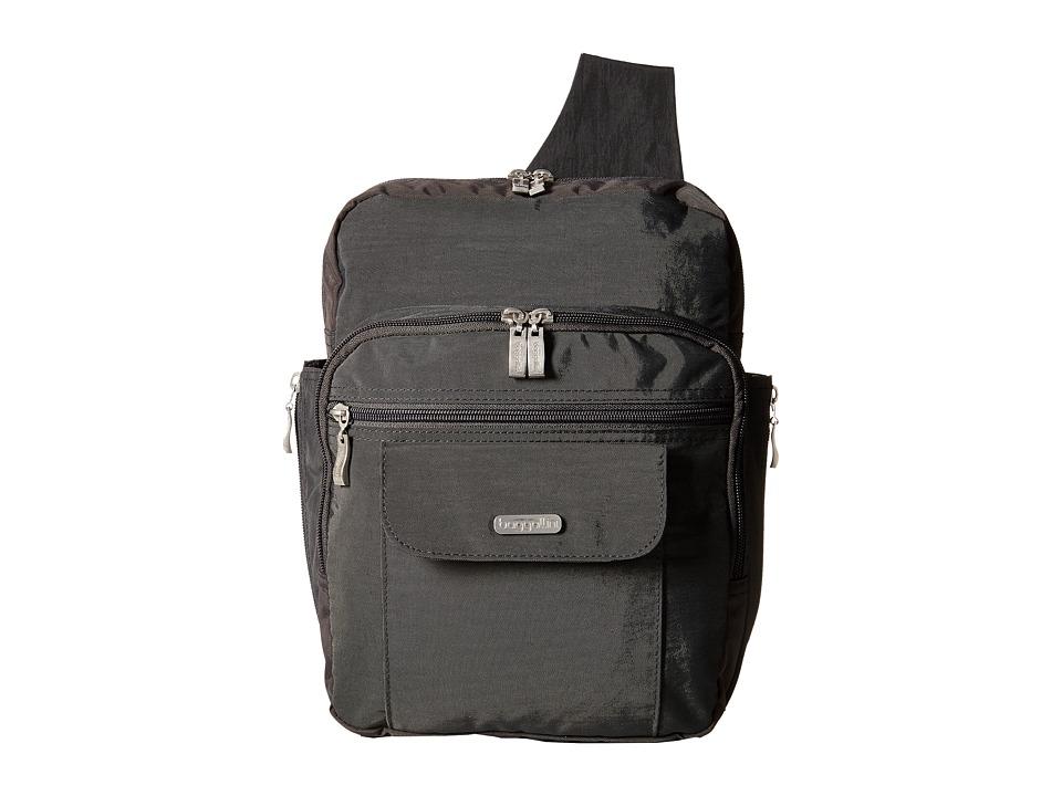 Baggallini Messenger Bagg Charcoal Handbags