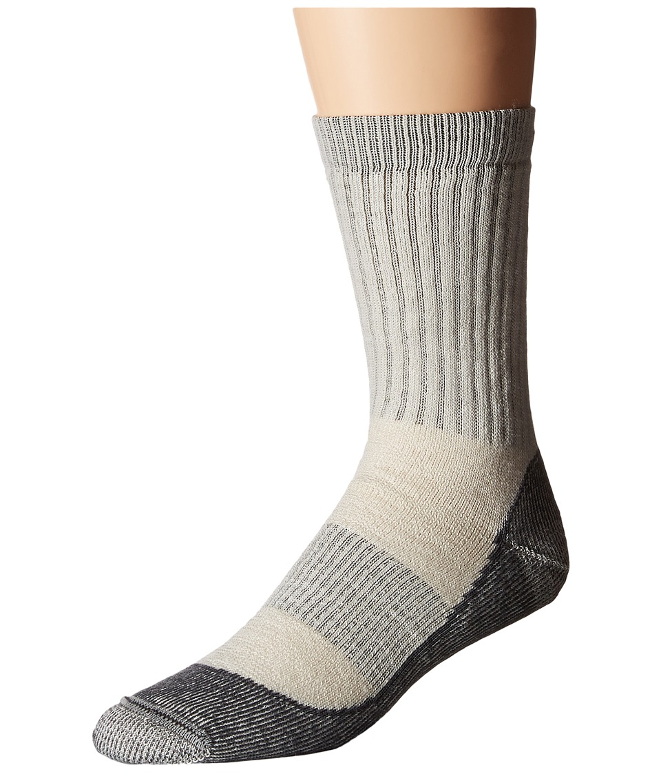 Icebreaker Hike Basic Medium Crew 1 Pair Pack Silver/Black/Oil Mens Crew Cut Socks Shoes